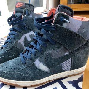 Nike sky high camo blue dunks size 10